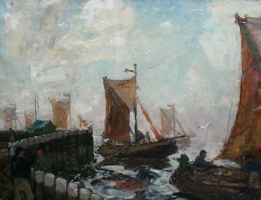 Fishing in Bergen op Zoom by Willem van Dort Sr.